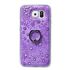 Για Samsung Galaxy Θήκη Βάση δαχτυλιδιών tok Πίσω Κάλυμμα tok Λουλούδι Σκληρή Συνθετικό δέρμα Samsung S6 edge plus / S6 edge / S6 / S5