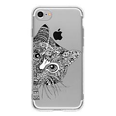 Voor iPhone 8 iPhone 8 Plus iPhone 7 iPhone 7 Plus iPhone 6 Hoesje cover Patroon Achterkantje hoesje Kat Zacht TPU voor Apple iPhone 7s