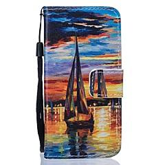 For Samsung Galaxy S7 Edge Pung Kortholder Med stativ Etui Heldækkende Etui Landskab Hårdt Kunstlæder for Samsung S7 edge S7 S6 S5 S4 Mini