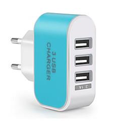 fast Charge / Wielu Porty przenośna ładowarka Wtyczka EU 3 porty USB Tylko ładowarka Na Telefon Komórkowy(5V , 3,1A)