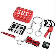 Survival Kit Doğa Yürüyüşü / Kamp / Seyahat / Dış Mekan / Bisiklet Çok Fonksiyonlu / Uygun Alüminyum Alaşım / paslanmaz Çelik Kırmızı