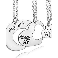 Kettingen Geen Steen Hangertjes ketting Sieraden Feest Dagelijks Hartvorm Uniek ontwerp Hart Initial Jewelry Legering Dames 1 Set Geschenk
