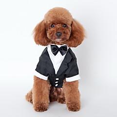 Kat Hond Smoking Hondenkleding Schattig Cosplay Bruiloft Strik Zwart