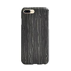 For Stødsikker Etui Bagcover Etui Linjeret / bølget Hårdt Træ for AppleiPhone 7 Plus / iPhone 7 / iPhone 6s Plus/6 Plus / iPhone 6s/6 /