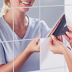 Tükrök Falimatrica Tükör falimatrica Dekoratív falmatricák,PVC Anyag Eltávolítható lakberendezési fali matrica
