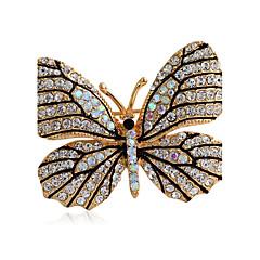 γυναικών κράμα μόδας / καρφίτσες rhinestone κομψό καρφίτσα κόμμα / καθημερινή / απλό σχήμα πεταλούδας 1pc κοσμήματα αξεσουάρ