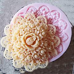 케이크에 대 한 3d 라운드 꽃 실리콘 몰드 퐁 당 금형 설탕 공예 도구 초콜릿 금형