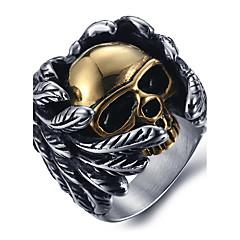 Heren Statementringen Ring Modieus Kostuum juwelen Titanium Staal Doodshoofdvorm Sieraden Voor Dagelijks Causaal