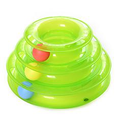 Zabawka dla kota Zabawki dla zwierząt Owalne Interaktywne Tor z piłeczkami