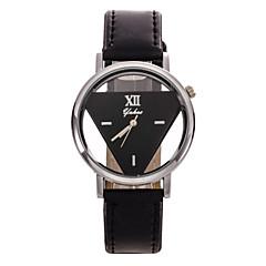 Dames Modieus horloge Kwarts Leer Band Bloem Zwart