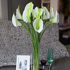 Set of 1 PCS 1 Κλαδί Πολυεστέρας Κάλλες Λουλούδι για Τραπέζι Ψεύτικα λουλούδια 28