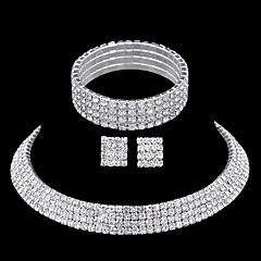 Rhinestone biżuteria kostiumowa Kryształ górski Stop 1 Naszyjnik 1 parę kolczyków 1 Bransoletka Na Ślub Impreza Casual Prezenty ślubne