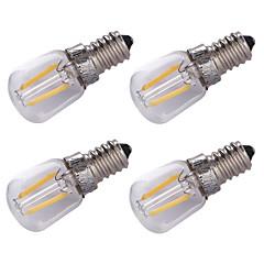 1.5W E14 LED-glødetrådspærer 2 COB 100 lm Varm hvid Dekorativ Vekselstrøm220 V 4 stk.