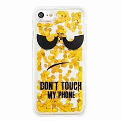 For Flydende væske Mønster Etui Bagcover Etui Glitterskin Ord / sætning Blødt TPU for AppleiPhone 7 Plus iPhone 7 iPhone 6s Plus iPhone 6