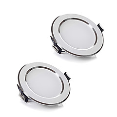 ZDM 2pcs / lot 5W draadloze AC 220V dimbare led downlights warm wit / koel wit led panle licht voor verlichting in huis