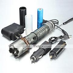 5 LED zseblámpák Kézi elemlámpák LED 1000/1200/2000 Lumen 5 Mód Cree XM-L T6 XM-L2 T6 1 x 18650 akkumulátor Állítható fókusz Csúszásgátló