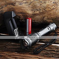 LED-Zaklampen Handzaklampen LED 2000 Lumens 5 Modus Cree XM-L T6 Verstelbare focus Waterbestendig Zoombare voor Kamperen/wandelen/grotten