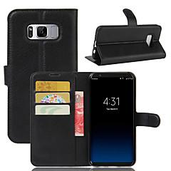 Mert tokok Pénztárca Kártyatartó Ütésálló Állvánnyal Teljes védelem Case Tömör szín Kemény Műbőr Bőr mert SamsungS8 S8 Plus S7 edge S7 S6