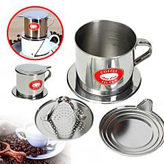 100 ml Ανοξείδωτο Ατσάλι Φίλτρο καφέ , ετοιμάζω καφέ Κατασκευαστής Επαναχρησιμοποιήσιμο με Stand Κύπελλο Manual