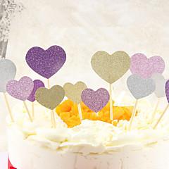 Sisustus Tool Heart for Cake Suklaa for Leipä for Cupcake Orastava Muovi