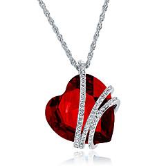 Γυναικεία Κρεμαστά Κολιέ Κοσμήματα Heart Shape Κοσμήματα Κρύσταλλο Κράμα Μοναδικό Μοντέρνα Euramerican κοστούμι κοστουμιών Κοσμήματα Για