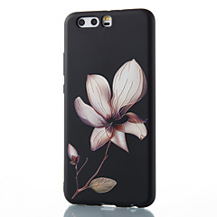 Til huawei mate 8 mate 9 pro tilfælde cover blomst mønster relief tpu materiale telefon taske p10 p9 p8 lite 2017 6x nova v9