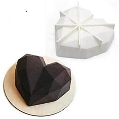 ψήσιμο Mold Καρδιά για κέικ για Σοκολάτα σιλικόνη Ημέρα του Αγίου Βαλεντίνου 3D Αντικολλητικό Γάμος Γιορτή