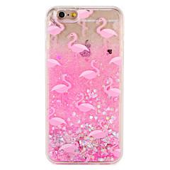 Case voor apple iphone 7 7 plus flamingo glitter shine patroon vloeibare harde pc 6s plus 6 plus 6s 6