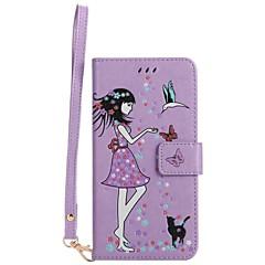 Etui til apple iphone 7 plus 7 kortholdere pung med stand glød i det mørke flip mønster fuld krops taske sexet dame hårdt pu læder 6s plus