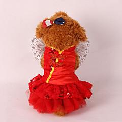 Pies Smokin Ubrania dla psów Ślub Sylwester Cekiny Czerwony Różowy