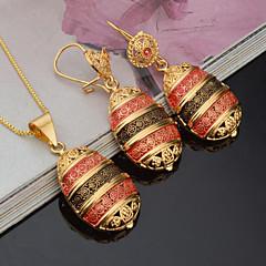 Damskie Bridal Jewelry Sets Rhinestone biżuteria kostiumowa Modny euroamerykańskiej Pozłacane Oval Shape Na Impreza Wydarzenie / impreza
