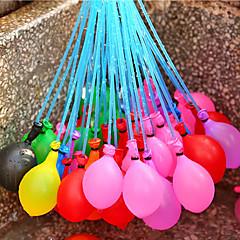 37 pcs / conjunto único balão cheio de injeção de água de irrigação em brinquedos de praia de férias para crianças balões de água cor