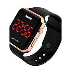 SKMEI Herre Sportsur Digital Watch Digital LED Kalender Vandafvisende PU Bånd Sort Hvid Pink
