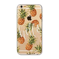 Etui til iphone 7 plus 7 cover gennemsigtigt mønster bagside cover frugt flise ananas soft tpu til apple iphone 6s plus 6 plus 6s 6 se 5s