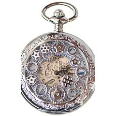Męskie Zegarek kieszonkowy Nakręcanie automatyczne Wodoszczelny Stop Pasmo Srebro Złoty Bronz