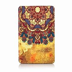 Padrão de pintura caixa de couro de três dobras PU com suporte para tabuleiro samsung 10.1 t580n t585n tablet pc de 10.1 polegadas