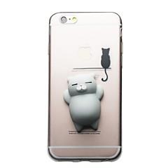 Til iPhone X iPhone 8 iPhone 8 Plus iPhone 7 iPhone 7 Plus Etuier Transparent Mønster GDS squishy Bagcover Etui Kat 3D-tegneseriefigur