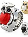 Женские Модные часы Кварцевый сплав Группа Блестящие Сова Серебристый металл Золотистый