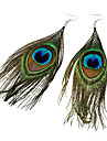 Women\'s Drop Earrings Folk Style Costume Jewelry Bohemian Fashion Feather Fabric Alloy Feather Peacock Jewelry For Party