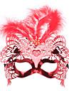 사랑 베네치아 깃털 위쪽 절반 마스크는 가장 무도회 파티를 위해 깜박이는 빛을 주도