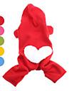 Caes Camisola com Capuz Vermelho / Laranja / Amarelo / Verde / Azul / Rosa Roupas para Caes Inverno Coracoes