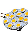 Lampada Spot LED G4 1.5W 12x5050SMD 70LM 2700K Branca Quente (12V)