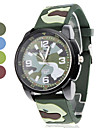 Unisex Camouflage Design Silicone Analog Quartz Wrist Watch (Multi-Colored)  Cool Watch Unique Watch