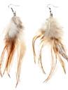 Boucles d'oreilles plumes A