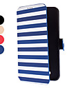Pour Samsung Galaxy Coque Porte Carte / Avec Support / Clapet Coque Coque Integrale Coque Lignes / Vagues Cuir PU Samsung Mega