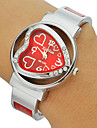 Women\'s Diamante Heart-shaped Dial Alloy Band Bracelet Watch (Assorted Colors) Cool Watches Unique Watches Fashion Watch