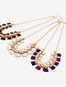 Short Square Multilayer Pendant Necklace