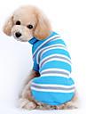 Gato Cachorro Sueters Roupas para Caes Casual Mantenha Quente Riscas Azul