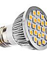3W E26/E27 Точечное LED освещение MR16 21 SMD 5050 240 lm Тёплый белый AC 110-130 / AC 220-240 V