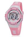 아동 스포츠 시계 손목 시계 LCD 석영 실리콘 밴드 캐쥬얼 블랙 화이트 핑크